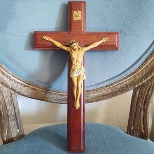 Jesus on a wood cross crucifix